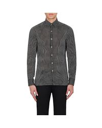 Lanvin - Gray Striped Voile Shirt for Men - Lyst
