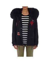 Mr & Mrs Italy   Black Fur-lined Canvas Parka Jacket    Lyst