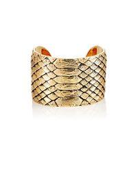 Saint Laurent   Metallic Animalier Python Cuff   Lyst