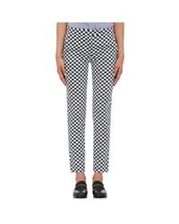 Harvey Faircloth - Multicolor Checked Twill Pants - Lyst