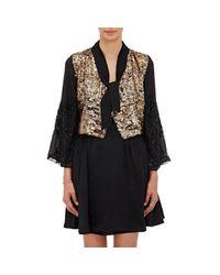 Loyd/Ford - Black Embellished Tieneck Crop Jacket - Lyst