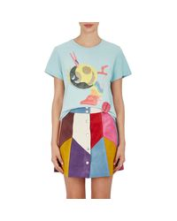Marc Jacobs - Blue Graphic-print Jersey T - Lyst