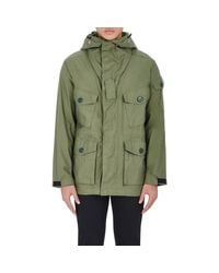 Rag & Bone | Green Cotton Canvas Hooded Field Jacket for Men | Lyst