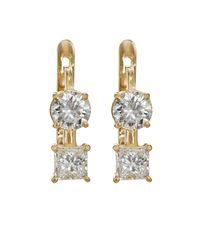 Ileana Makri - Metallic White Diamond Drop Earrings - Lyst