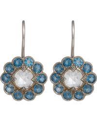 Cathy Waterman - Metallic Floral Drop Earrings - Lyst