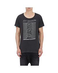R13 - Black Graphic Jersey T for Men - Lyst