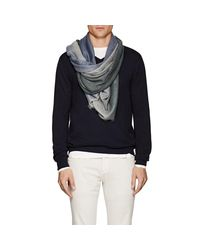 Loro Piana - Blue Gradient Cashmere Scarf for Men - Lyst