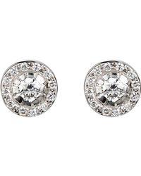 Ileana Makri - White Circular Stud Earrings - Lyst