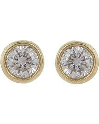 Jennifer Meyer - Metallic Diamond Bezel Stud Earrings - Lyst