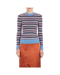 Joos Tricot - Blue Striped Cotton - Lyst