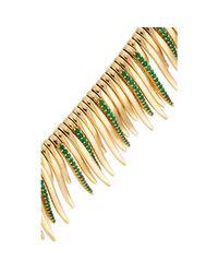 Ileana Makri - Green Grass Leaves Necklace - Lyst