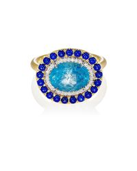 Irene Neuwirth - Blue Mixed-gemstone Oval - Lyst