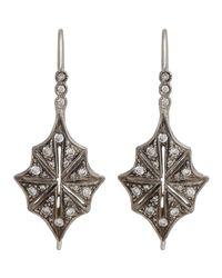 Cathy Waterman - White Star Drop Earrings - Lyst