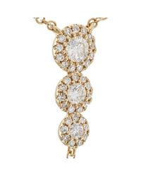 Samira 13 Black Pearl & White Diamond Y-chain Necklace