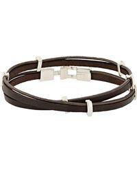 Zadeh   Brown Eitan Wrap Bracelet for Men   Lyst