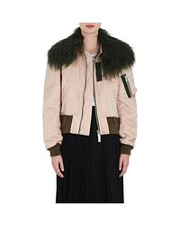 Sacai - Pink Fur-collar Tech - Lyst