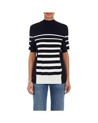Sacai - Blue Drawstring-back Cotton Sweater - Lyst