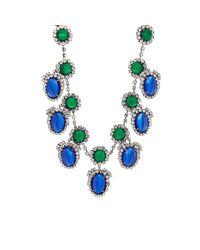 Kenneth Jay Lane - Blue Drop Necklace - Lyst