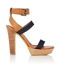 See By Chloé - Blue Denim & Leather Ankle - Lyst