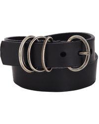 Werkstatt:münchen | Black Leather Wrap Bracelet | Lyst