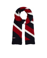 Moncler Gamme Bleu - White Men's Diagonal-striped Stockinette-stitched Scarf for Men - Lyst