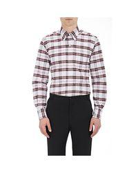 Thom Browne - Multicolor Plaid Oxford Cloth Shirt for Men - Lyst