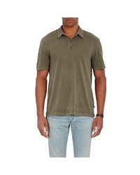 James Perse - Green Jersey Polo Shirt for Men - Lyst