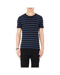 John Varvatos - Blue V-neck Linen T-shirt for Men - Lyst