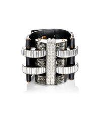 Lanvin - Black Embellished Wide - Lyst