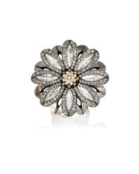 Lanvin | Metallic Flower Ring | Lyst