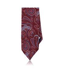 Barneys New York - Red Paisley Silk Satin Necktie for Men - Lyst
