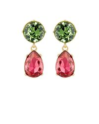 Kenneth Jay Lane | Red Crystal-embellished Double | Lyst