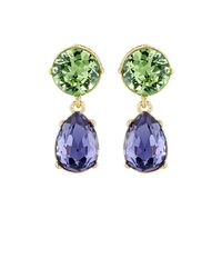 Kenneth Jay Lane | Green Crystal-embellished Double | Lyst