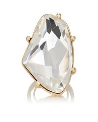 Kenneth Jay Lane | White Crystal Cocktail Ring | Lyst