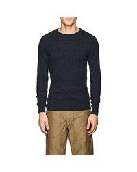 RRL - Blue Rib-knit Cotton Long-sleeve T for Men - Lyst