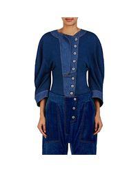 Stella McCartney - Blue Knit Rounded Shoulder Top - Lyst