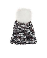 Barneys New York - Gray Cable-knit Pom - Lyst