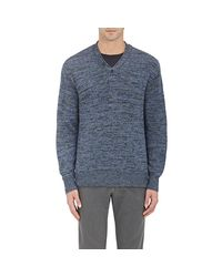 Inis Meáin - Blue Linen Henley for Men - Lyst