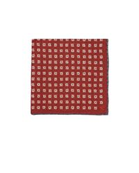 Isaia - Red Reversible Silk Pocket Square for Men - Lyst