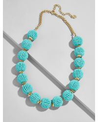 BaubleBar - Blue Beaded Ball Statement Necklace - Lyst