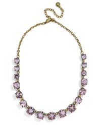 BaubleBar - Gray Camryn Glass Statement Necklace - Lyst