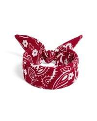 BaubleBar - Red Kenzie Bandana Bracelet - Lyst
