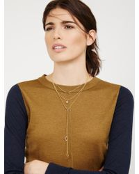 BaubleBar - Metallic Facets Layered Necklace - Lyst
