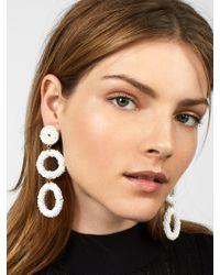 BaubleBar - White Capella Drop Earrings - Lyst