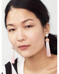 BaubleBar - Pink Sarina Tassel Earrings - Lyst