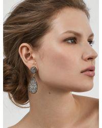 BaubleBar | Gray Moonlight Druzy Drop Earrings | Lyst