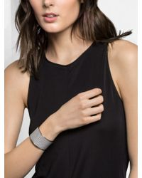 BaubleBar - Metallic Gilded Leather Cuff-gold/gold - Lyst