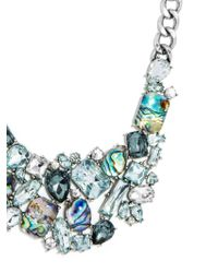 BaubleBar - Metallic Crystal Abalone Bib - Lyst