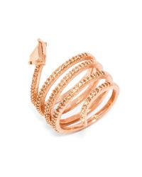 BaubleBar - Metallic Crystal Constrictor Ring - Lyst