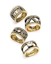 BaubleBar | Metallic Regent Ring Quad | Lyst